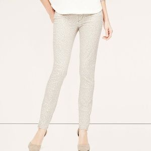 NWT Ann Taylor Loft Leopard Print Skinny Jean